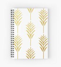 Goldene Palmblätter auf Weiß Spiralblock