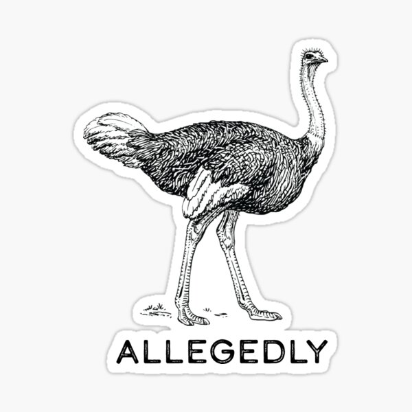 Allegedly Sticker