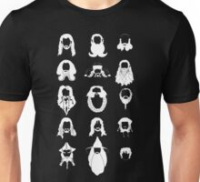 The Bearded Company White and Black Unisex T-Shirt