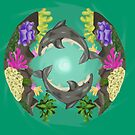 Sharks in coral by MonsterAtePilot