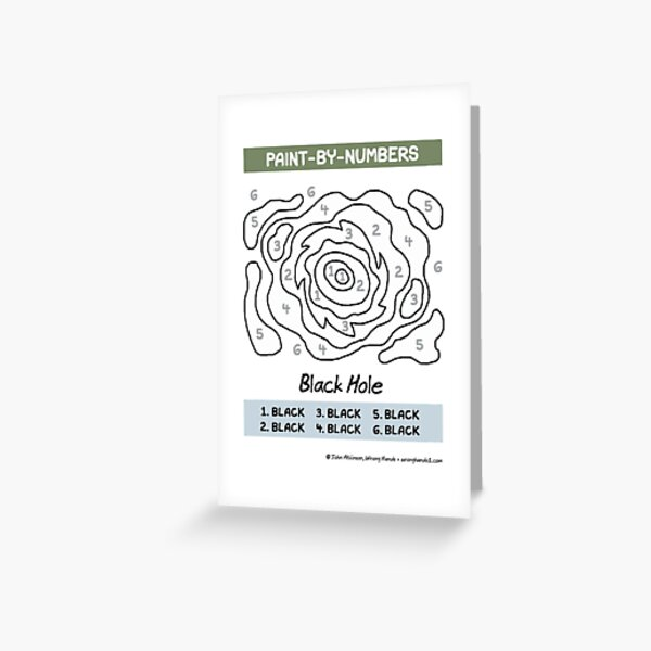 Paint-by-numbers Greeting Card