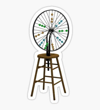 Redesigning the Wheel (After Duchamp) Sticker
