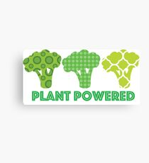 'Powered by Veg' Broccoli Vegan Design Canvas Print