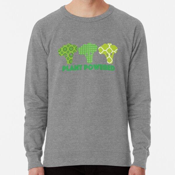 'Powered by Veg' Broccoli Vegan Design Lightweight Sweatshirt