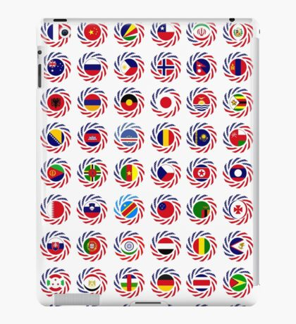 We Are America Multinational Patriot Flag Collective 2.0 iPad Case/Skin