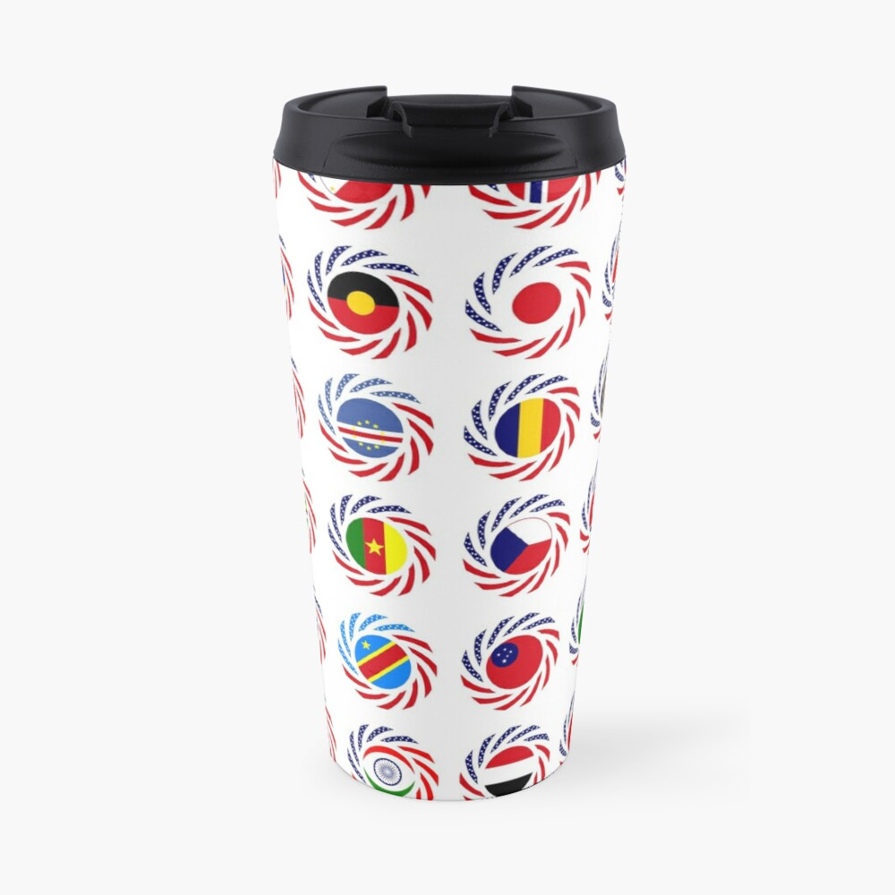 We Are America Multinational Patriot Flag Collective 2.0 Travel Mug
