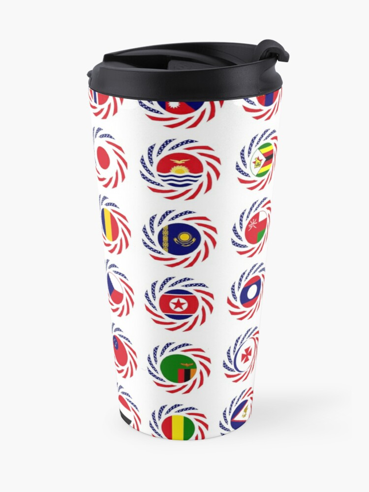 Alternate view of We Are America Multinational Patriot Flag Collective 2.0 Travel Mug