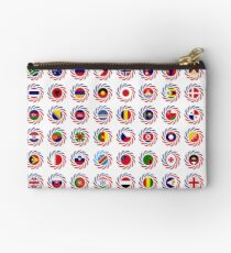 We Are America Multinational Patriot Flag Collective 2.0 Zipper Pouch
