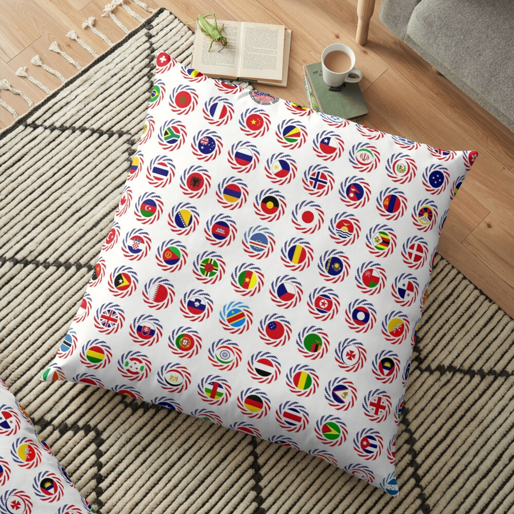 We Are America Multinational Patriot Flag Collective 2.0 Floor Pillow