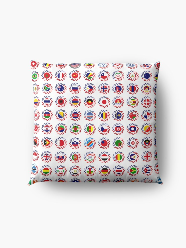 Alternate view of We Are America Multinational Patriot Flag Collective 2.0 Floor Pillow