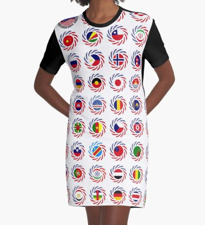 We Are America Multinational Patriot Flag Collective 2.0 Graphic T-Shirt Dress