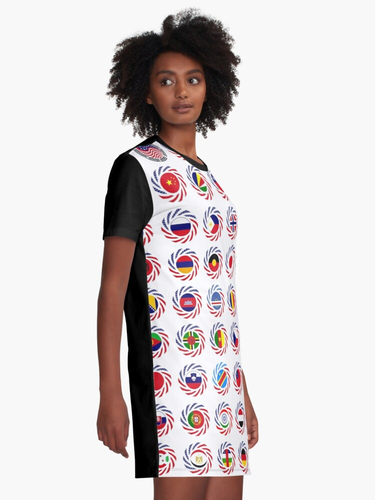 Alternate view of We Are America Multinational Patriot Flag Collective 2.0 Graphic T-Shirt Dress