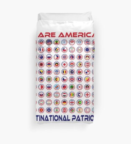 We Are America Multinational Patriot Flag Collective 2.0 Duvet Cover