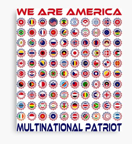 We Are America Multinational Patriot Flag Collective 2.0 Canvas Print
