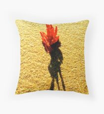 fire coral on Moffat Throw Pillow