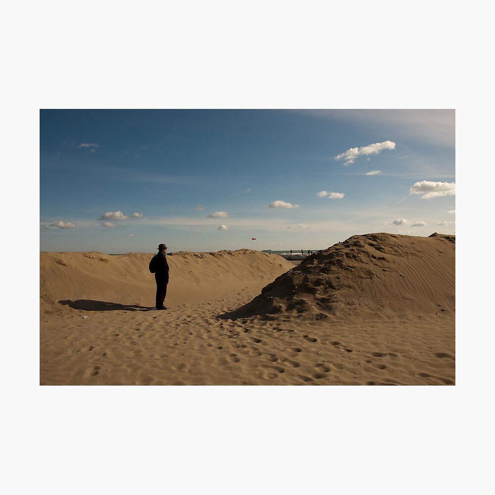 """""""This is not a Tourist,"""" Lido Beach, Venice, Italy Photographic Print"""
