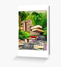 Falling Books Greeting Card