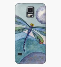Full Moon Dragonfly on the Ocean Waves Mixed Media Art Case/Skin for Samsung Galaxy
