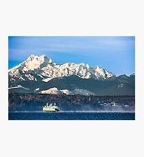 Washington State Ferry, Puyallup Cruising from Edmonds to Kingston  Photographic Print