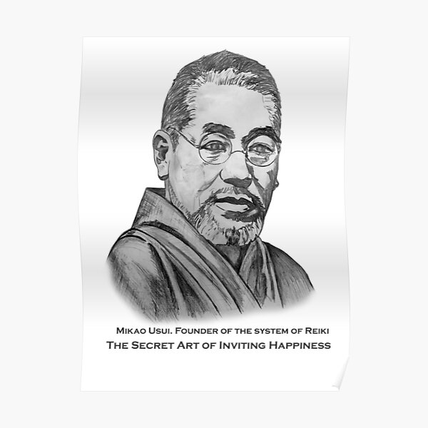 Mikao Usui, Founder of Reiki  Poster