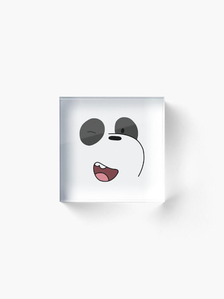 Alternate view of Panda - We Bare Bears  Acrylic Block