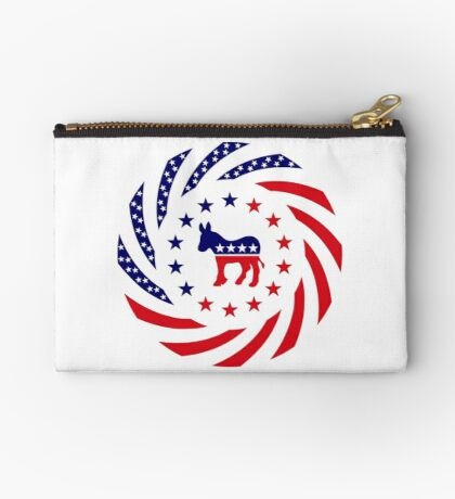 Democratic Murican Patriot Flag Series Zipper Pouch