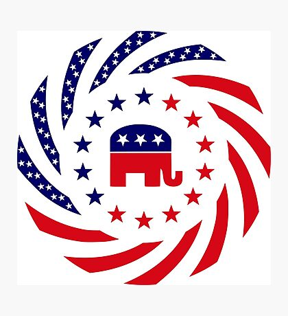 Republican Murican Patriot Flag Series Photographic Print