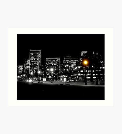 Night Knight ou Hommage à Louis Lumière Art Print