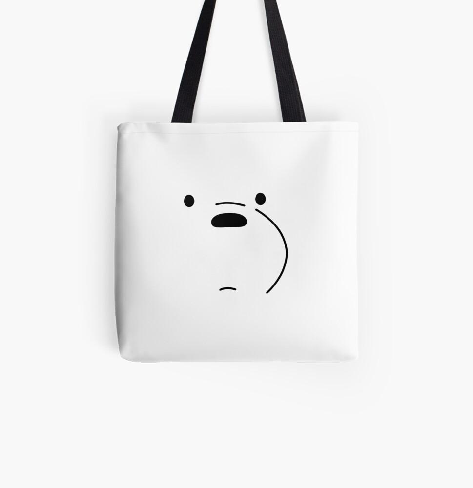 Polar Bear - We Bare Bears All Over Print Tote Bag