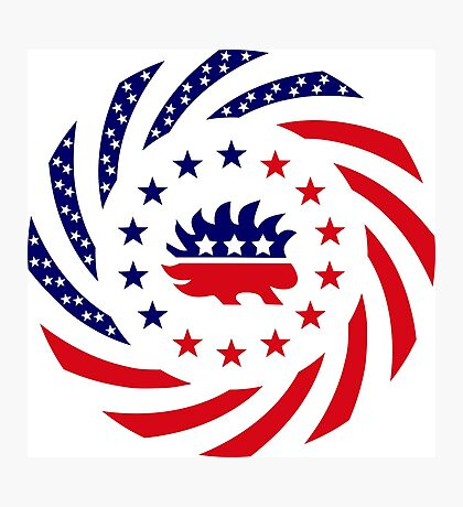 Libertarian Murican Patriot Flag Series Photographic Print
