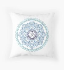 Mandala Hindu Blue Tumblr Throw Pillow