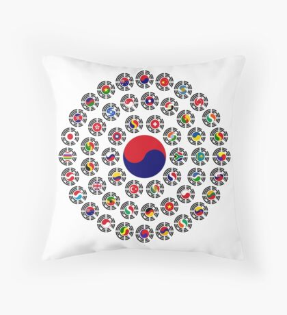 We Are Korea Multinational Patriot Flag Collective 1.0 Floor Pillow