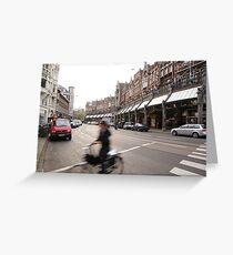 Amsterdam Rush Greeting Card