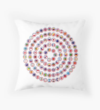 We Are America Multinational Patriot Flag Collective 1.0 Throw Pillow