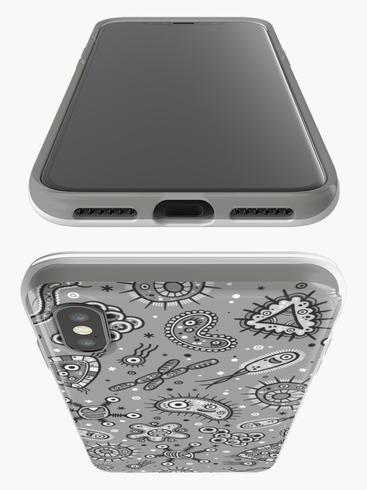Alternate view of Microbes - Grey / Gray iPhone Case & Cover