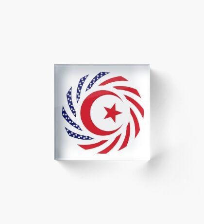 Muslim American Multinational Patriot Flag Series 1.0 Acrylic Block
