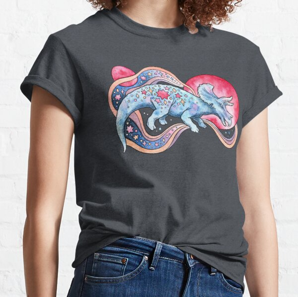 Star Tricera | Cosmic Dinosaur Watercolor Classic T-Shirt