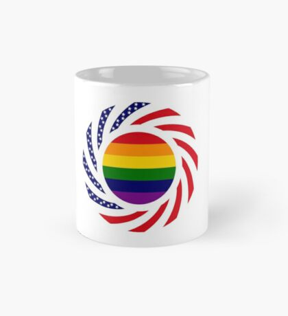 Rainbow American Patriot Flag Series Mug