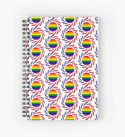 Rainbow American Patriot Flag Series Spiral Notebook