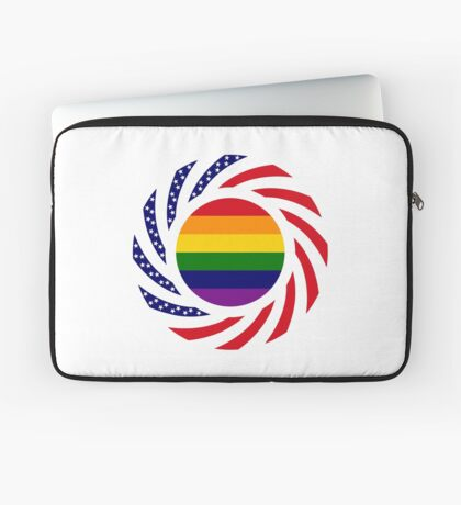 Rainbow American Patriot Flag Series Laptop Sleeve