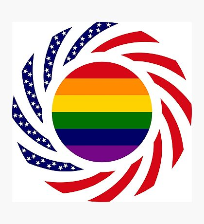 Rainbow American Patriot Flag Series Photographic Print