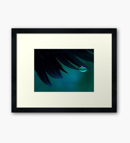 Bubble Blue Framed Print