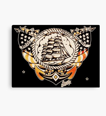 Tattoo Ship Canvas Print