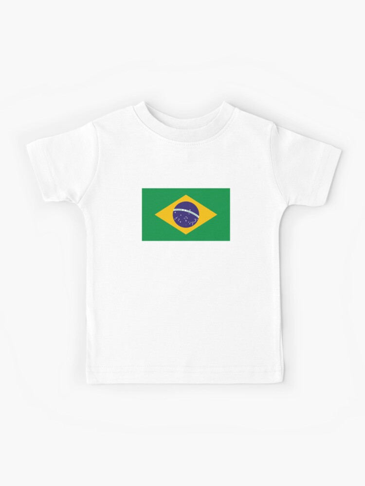 Brazil USA Flag Retro Infant Kids Crewneck Long Sleeve Shirt Tee Jersey for Toddlers