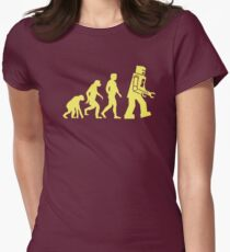 Sheldon Robot Evolution Tailliertes T-Shirt