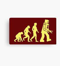 Sheldon Robot Evolution Canvas Print