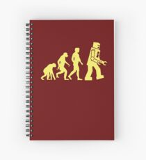 Sheldon Robot Evolution Spiral Notebook