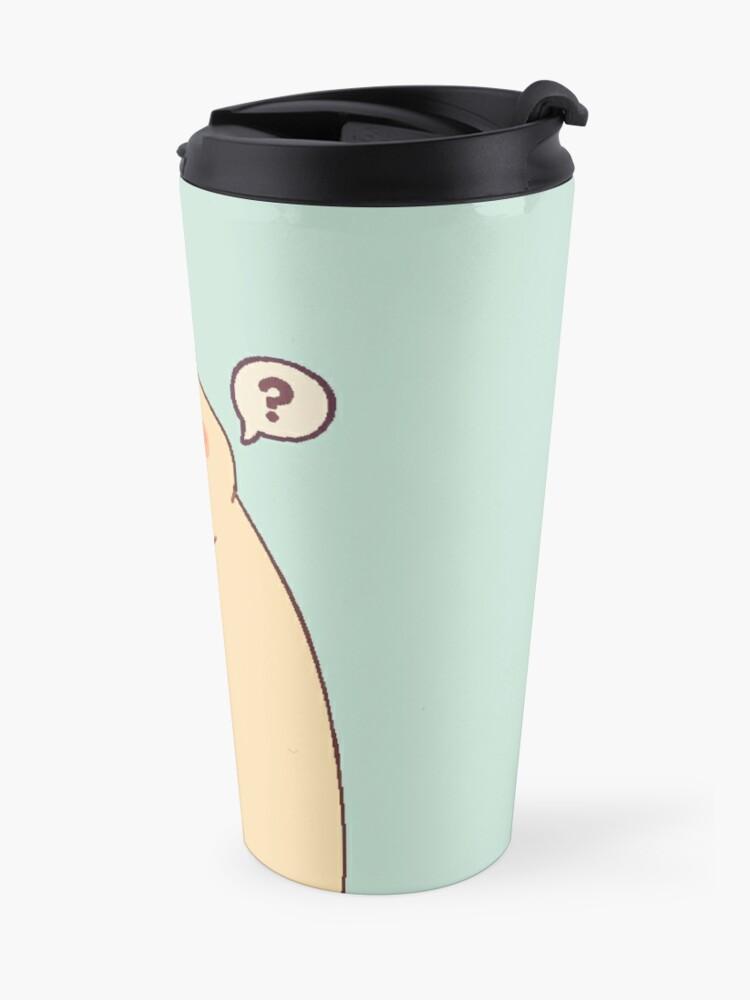 Alternate view of Cute & Confused Chubby Pixel Pug - Long boye Travel Mug