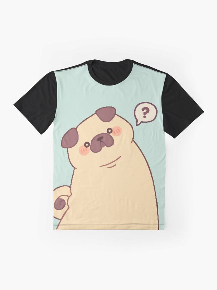 Alternate view of Cute & Confused Chubby Pixel Pug - Long boye Graphic T-Shirt