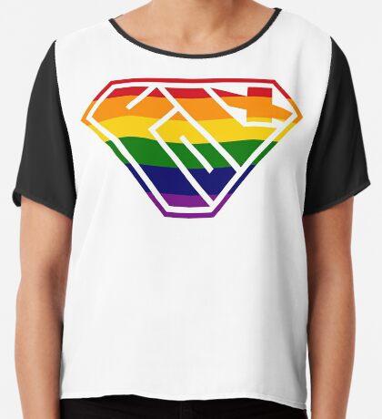 Folx SuperEmpowered (Rainbow) Chiffon Top